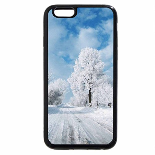 iPhone 6S / iPhone 6 Case (Black) Road of snow