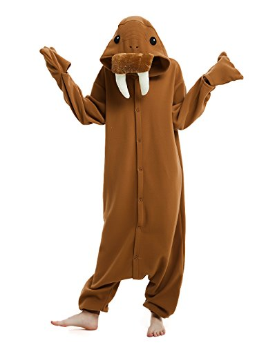 Ifboxs Adult Walrus Animal Onesie Cosplay Costume Pajamas for Adults and Teens