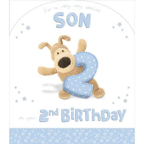 Boofle Very Very Special Son 2nd Birthday Card 11 X 95 Code