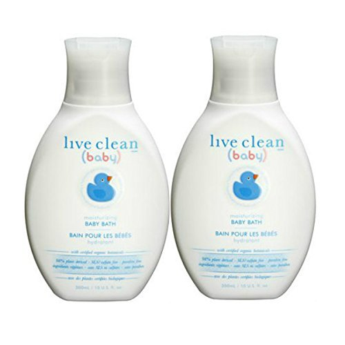 2 Pack of Live Clean Baby MOISTURIZING BABY BATH Organic, Hypoallergenic, Tear-Free! 2- 10 fl oz bottles