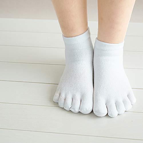 ベリー取り戻すテザーゆびのばソックス Neo アズキッズ ホワイト 幼児用靴下 5本指ソックス