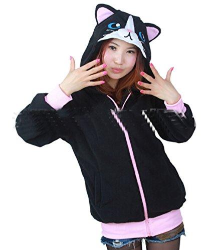 Koveinc Kawaii Animal Adults Sleeping Wear Kigurumi Hoodie Cloak Jacket Coat-Medium
