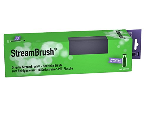 StreamBrush® Flaschenbürste für 1,0 Liter PET Sodastream Flaschen - Made in Germany