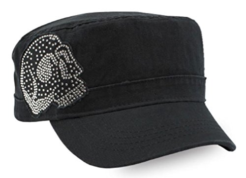 Crystal Skull Hat - Harley-Davidson Women's Embellished Krystal Skull Painter's Cap, Black PC26530