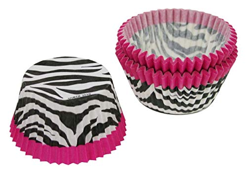 (Cupcake Creations Pink Zebra Cupcake Holders, 2-Inch, 32 Count)