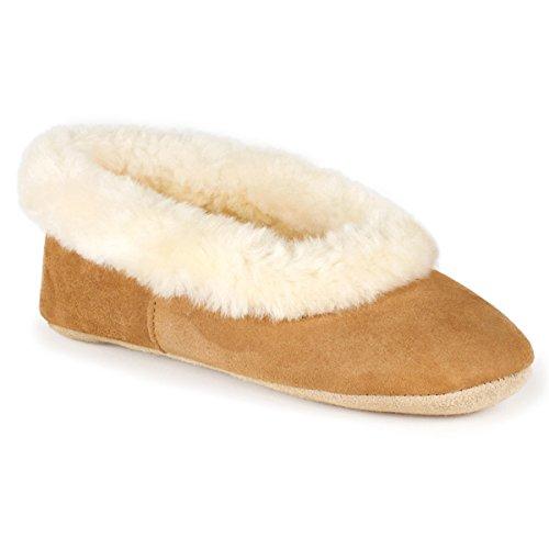 Di Di Pecora Pelle Pelle Pecora Signore Castagno Regina Solo Pantofole Di XZTFwfCqn
