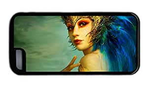 Funny customize iphone covers Golden Delicious fantasy girl blue hair TPU Black for Apple iPhone 5C