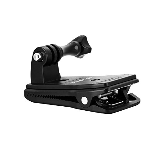 Sametop Backpack Strap Mount Quick Clip Mount for Gopro Hero 6, 5, 4, Session, 3+, 3, 2, 1 Cameras (Quick Clip)