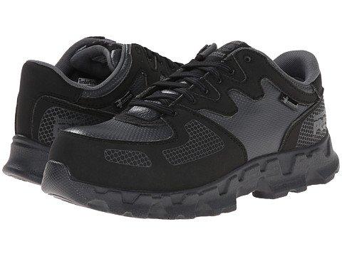 (ティンバーランド)Timberland レディースウォーキングシューズ?カジュアルスニーカー?靴 Powertrain Alloy Safety Toe ESD Black/Grey 8.5 25.5cm D - Wide [並行輸入品]