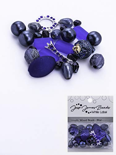 Jesse James Beads for Jewelry Making. Beautiful Desings for Every Style. Single Unit or Package of 3. (Mixed Beads-Blue 596-01)