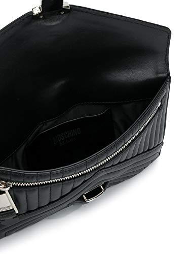 MOSCHINO Cuir Femme Pochette A843780021555 Noir qCOwqz