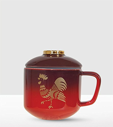Starbucks Lunar Chinese New Year Cup with Lid Ombré Rooster 2017