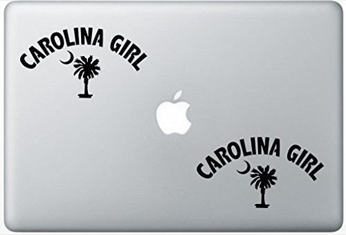 Olina Girl Arched Over South Olina Palmetto Moon ArcDecals78603172 Set Of Two (2x) , Decal , Sticker , Laptop , Ipad , Car , Truck