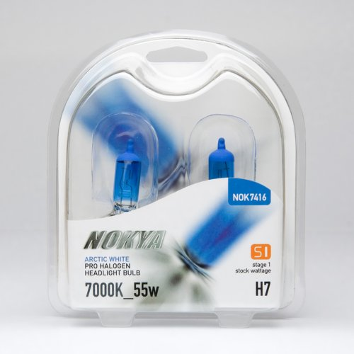 - Nokya H7 Headlight Bulbs - Arctic White 7000K 55W (Stage 1)