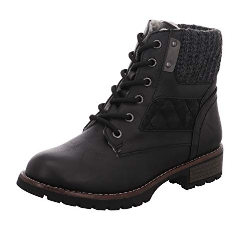 Boots 001 26210 21 Combat Damen 8 001 8 Black Jana Schwarz qvwHBt0w