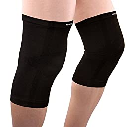 Knee Compression Sleeves (1 pair) By FitXpert - Crossfit, Patella Protection, Knee Support and Pain Relief in Weight Lifting, Knee Sleeves for Both Men & Women