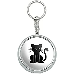 Graphics and More Portable Travel Size Pocket Purse Ashtray Keychain Stick Figure Family - Cat Stick Figure Family Pet