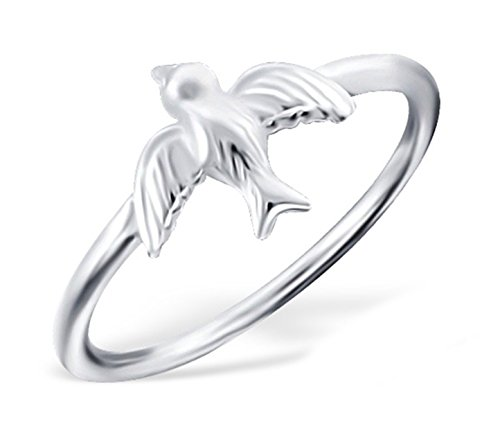 (Best Wing Jewelry .925 Sterling Silver Bird Midi Ring, Above Knuckle Ring, Mid Finger Ring)