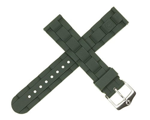 New 19mm Wenger Swiss Army Genuine Rubber Strap Army Green Diver Watch Band 19 mm (Genuine Rubber)