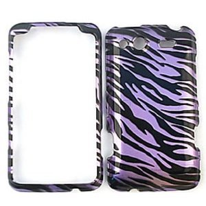 HTC Salsa Transparent Design, Purple Zebra Hard Case, Snap On Cover