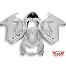 VITCIK (Fairing Kits Fit for Kawasaki EX250R Ninja 250 EX-250R ZX250 2008 2009 2010 2011 2012) Plastic ABS Injection Mold Complete Motorcycle Body Aftermarket Bodywork Frame (White) A036