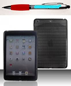 Cerhinu Accessory Factory(TM) Bundle (the item, 2in1 Stylus Point Pen) For Apple iPad Mini - TPU Case Cover Protector...