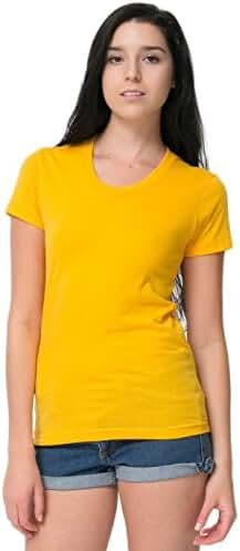 American Apparel Women Poly-Cotton Short Sleeve Women's T