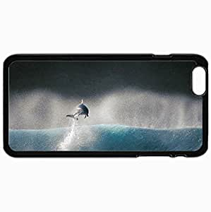 Customized Cellphone Case Back Cover For iPhone 6 Plus, Protective Hardshell Case Personalized Dolphin Black