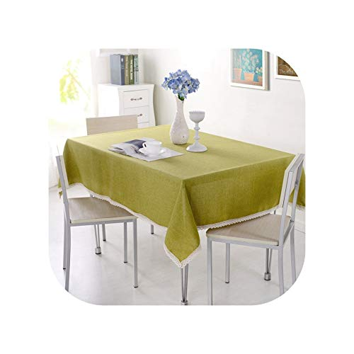 Tablecloths Imitation Hemp Fabric 15 Colors Available Tablecloth Tablecloths Table Cover Kitchen Home Banquet Hotel Slipcovers for Weddings,Color 08,130X130Cm -