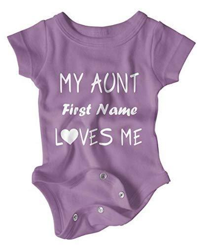 (Custom Aunt Love Baby Onesie (6-Month,)