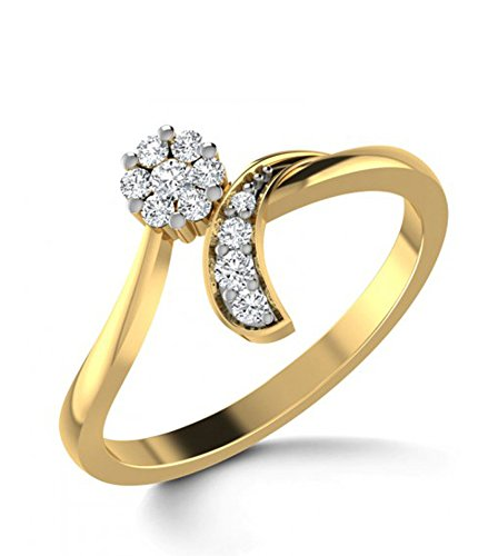 Jack n Jewel 18kt Curved Gold Diamond Ring