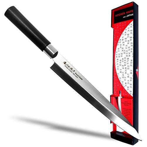 Seki Japan MASAMUNE, Japanese Sushi Chef Knife, Stainless Steel Wa Sashimi Yanagiba Knife, PP Handle, 8.3 inch ()