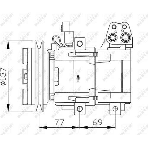 NRF - Air Compressor Hyundai, H-1 Box, H100 Bus, H100 Box, Starex: