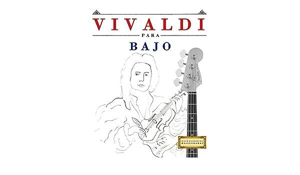Vivaldi para Bajo: 10 Piezas Fáciles para Bajo Libro para ...