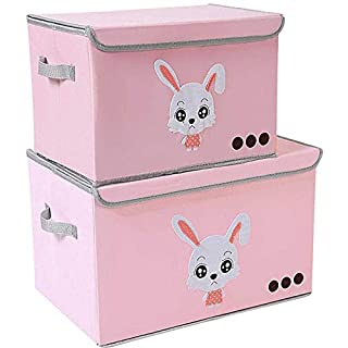 Yosayd Chest Cube Storage Box Large Decorative Storage Bin with Lid for Boys Girls Room