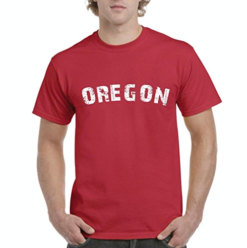 Xekia Oregon Home Of Portland Press Herald Mens T Shirt Tee Small Red