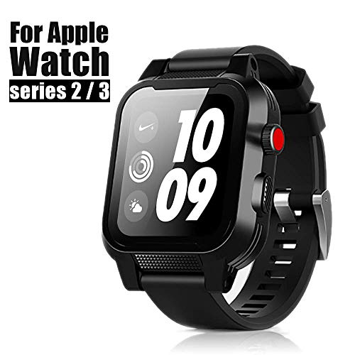 new products 8a6f3 9dc2f Apple Watch Waterproof Case 42mm, iWatch Case IP68 Waterproof Shockproof  Impact Resistant Protective Case with Strap Bands for Apple Watch  Waterproof ...
