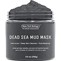 New York Biology Dead Sea Mud Mask for Face and Body – Spa Quality Pore Reducer for Acne, Blackheads and Oily Skin, Natural Skincare for Women, Men – Tightens Skin for A Healthier Complexion – 8.8 oz