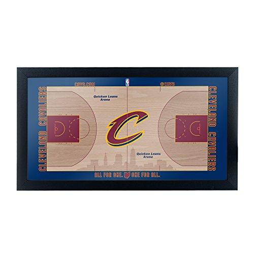 Trademark Gameroom Cleveland Cavaliers Official NBA Court Framed Plaque
