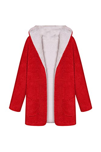 Capuche Élégante Veste Manteau Avant Est La Femme Red À Ouvert Cardigan BnPx0wRa7