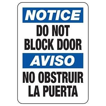 Amazon.com: Aviso magnético no bloquea el cartel de la ...