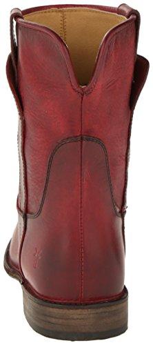 Frye Paige Short de la mujer Botas de equitación Burgundy Washed Antique Pull-Up Leather-76959