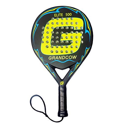 GRANDCOW Beach Tennis Padel Paddle Racket Elite 500 Carbon Fiber POP Tennis  Rackets New 3D Surface 0e14945e9ce65