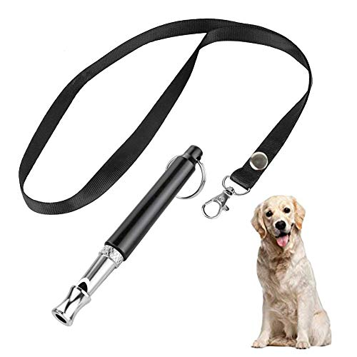 BMHNOONE Dog Whistle to Stop Barking, [1 Pack] Adjustable Pitch Ultrasonic Training Tool Silent Bark Control for Dogs-1 PCS Pet Whistle with 1 Free Lanyard Strap