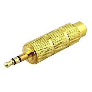 Conector 3,5mm a 6,5mm hembra estéreo de audio adaptador