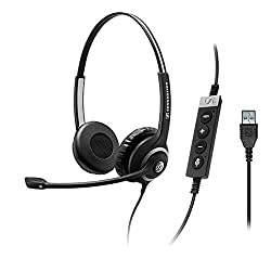 Sennehsier Circle Seriers Sc 260 Usb Ms Ii, Double-sided, Wired Headset, Usb In-line Call Control Unit, Certified For Skype For Business