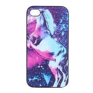 compra Caballo Impreso muelen de nuevo caso plástico para el iPhone 5/5S
