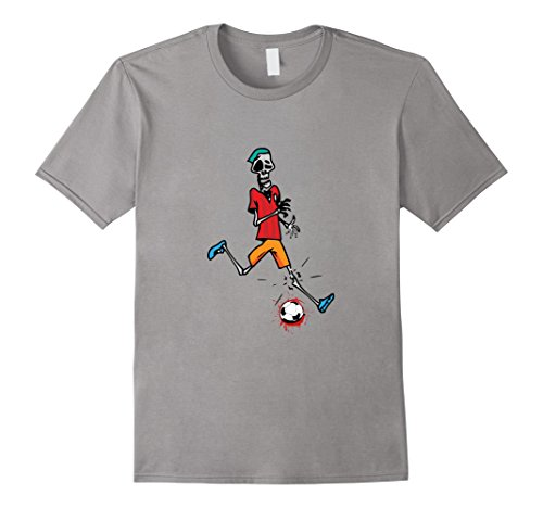 Mens Zombie Soccer Player T Shirt Halloween 2017 3XL Slate