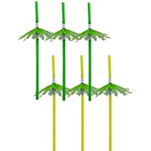 Bilipala Palm Tree Paper Cocktail Party Umbrella Tropical Drink Straws - Great for Parties, Drinks, Cocktails,Pack of 20