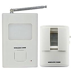 Motion Detector Chime Alarm Wireless Dog Barking PIR Sensor Doorbell Alarm